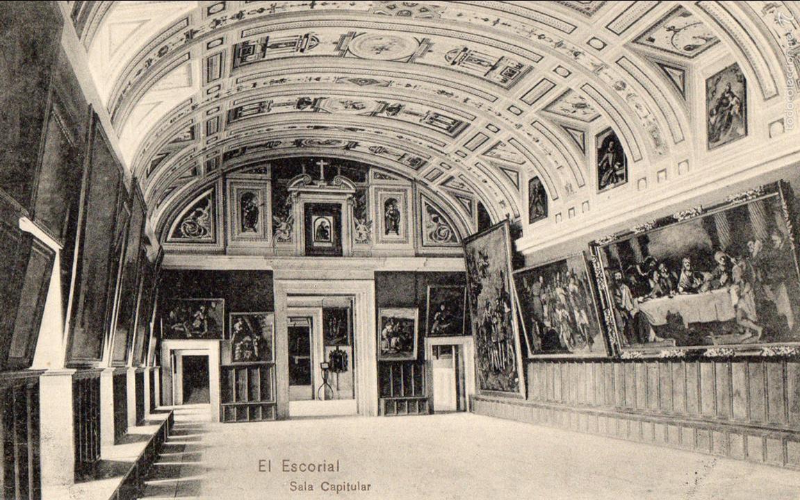 EL ESCORIAL. SALA CAPITULAR. EDICION HOTEL MIRANDA. (Postales - España - Comunidad de Madrid Antigua (hasta 1939))