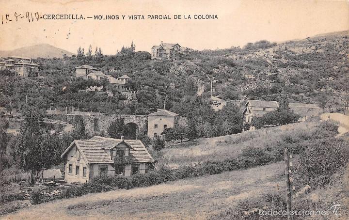 CERCEDILLA (MADRID).- MOLINOS Y VISTA PARCIAL DE LA COLONIA (Postales - España - Comunidad de Madrid Antigua (hasta 1939))