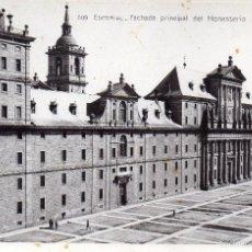 Postales: EL ESCORIAL. MADRID. FACHADA PRINCIPAL. CIRCULADA. CONSERVA EL SELLO Y MATASELLOS DE SAN LORENZO. Lote 61842180