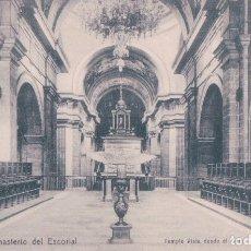 Postales: MONASTERIO DEL ESCORIAL - TEMPLO: VISTA DESDE EL CORO. . Lote 62421376