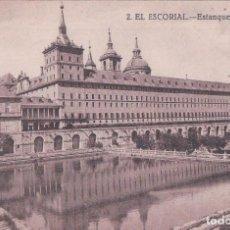 Postales: 2. EL ESCORIAL. ESTANQUE DE LA HUERTA. GRAFOS (MADRID).. Lote 62698508
