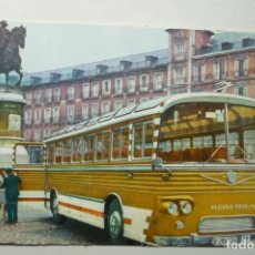 Postales: POSTAL MADRID -PL.MAYOR BUS PEGASO CM. Lote 63327500