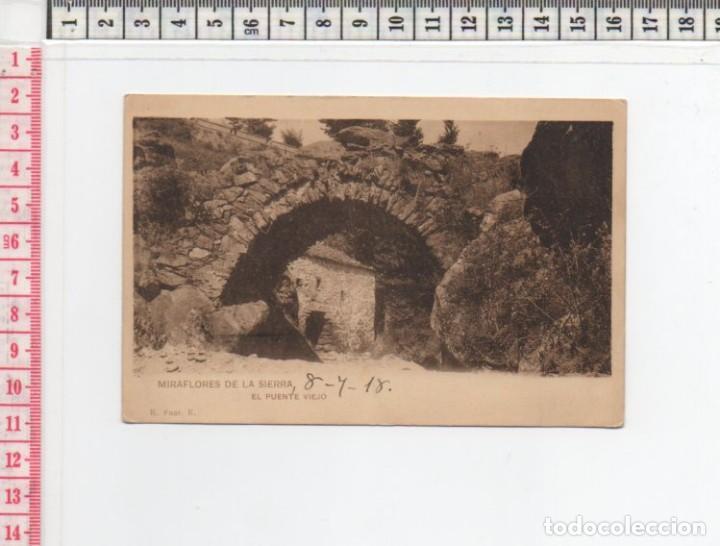 23.198 TARJETA POSTAL ANTIGUA, PUENTE VIEJO, MIRAFLORES DE LA SIERRA, MADRID (Postales - España - Madrid Moderna (desde 1940))