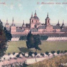 Postales: POSTAL MADRID.- EL ESCORIAL, EL MONASTERIO VISTO DESDE LA PRESA. PURGER & CO Nº3725. Lote 64540791