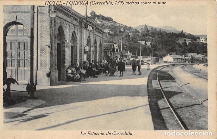 LA ESTACIÓN DE CERCEDILLA (MADRID) (Postales - España - Comunidad de Madrid Antigua (hasta 1939))