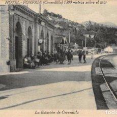 Postales: LA ESTACIÓN DE CERCEDILLA (MADRID). Lote 64651319