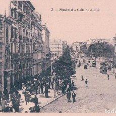 Postales: POSTAL MADRID - CALLE DE ALCALA - 3 TC - MUY ANIMADA. Lote 65371903