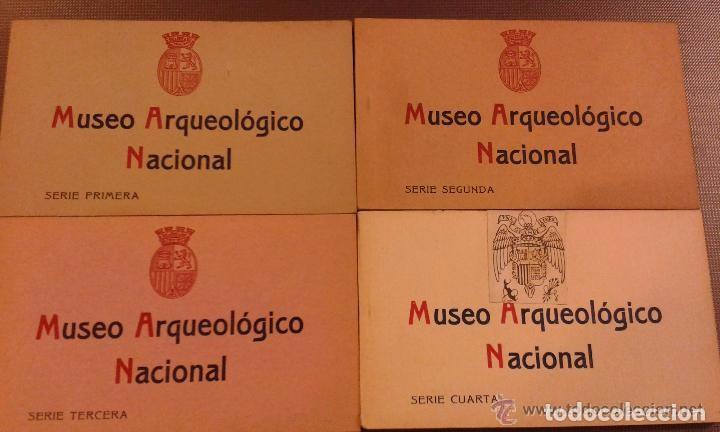 4 BLOCKS DEL MUSEO ARQUEOLÓGICO NACIONAL. CUATRO SERIES. 80 POSTALES FOTOTIPIA DE HAUSER Y MENET (Postales - España - Comunidad de Madrid Antigua (hasta 1939))