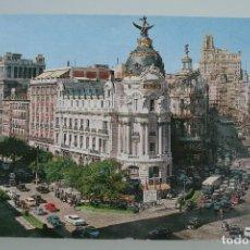 Postales: ANTIGUA POSTAL MADRID CALLE DE ALCALA Y AVENIDA DE JOSE ANTONIO – AÑOS 60 – CIRCULADA BUEN ESTADO. Lote 65759090