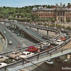 Postales: MADRID - GLORIETA EMPERADOR CARLOS V -Nº 221- SEAT 600 - RENAULT DEUPHINE - COCHES - AÑO 1968 NUEVA. Lote 65974354