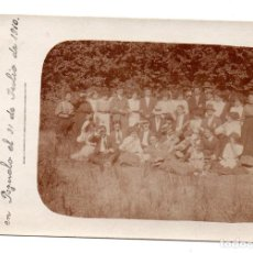 Postales: PS6966 POSTAL FOTOGRÁFICA DE GRUPO POSANDO. POZUELO (MADRID). 1910. Lote 66225838