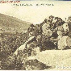 Postales: EL ESCORIAL.- SILLA DE FELIPE II. Lote 68681009
