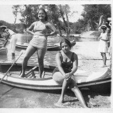Postales: MADRID.- PISCINA LA ISLA AÑO 1932- MEDIDAS 10,5 X 9CMS. Lote 69473421
