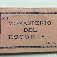 Postales: CARNET POSTAL NÚMERO 1. MONASTERIO DEL ESCORIAL. L. ROISIN. Lote 69694037