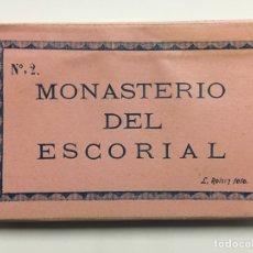 Postales: CARNET POSTAL NÚMERO 2. MONASTERIO DEL ESCORIAL. L. ROISIN. Lote 69694339