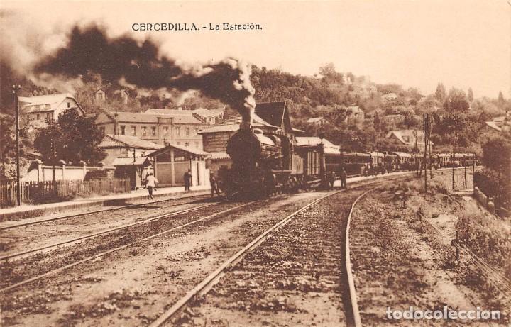 CERCEDILLA (MADRID).- LA ESTACIÓN (Postales - España - Comunidad de Madrid Antigua (hasta 1939))