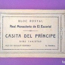 Postales: ESCORIAL - CASITA DEL PRÍNCIPE - BLOC 10 POSTALES HIJO DE NICOLÁS SERRANO. Lote 70323581
