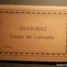 Postales: POSTAL - ESPAÑA - MADRID - ARANJUEZ - CASITA DEL PESCADOR - 12 VISTAS - LIBRILLO - PALOMEQUE. Lote 71167625