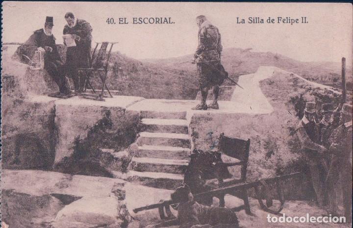 POSTAL DE MADRID. MONASTERIO DE EL ESCORIAL. LA SILLA DE FELIPE II. GRAFOS 40 (Postales - España - Comunidad de Madrid Antigua (hasta 1939))