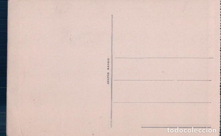 Postales: POSTAL DE MADRID. MONASTERIO DE EL ESCORIAL. LA SILLA DE FELIPE II. GRAFOS 40 - Foto 2 - 72295935