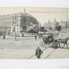 Postales: TARJETA POSTAL DE MADRID. PLAZA DE CASTELAR (CIBELES). FOTOTIPIA CASTAÑEIRA, ÁLVAREZ Y LEVENFELD.. Lote 72748134