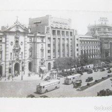 Postales: TARJETA POSTAL FOTOGRÁFICA DE MADRID. CALLE DE ALCALÁ CON TROLEBUSES. EDICIONES ARRIBAS. ZARAGOZA.. Lote 72748266