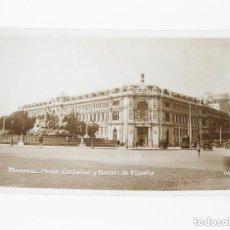 Postales: TARJETA POSTAL FOTOGRÁFICA DE MADRID. PLAZA DE CASTELAR Y BANCO DE ESPAÑA. 116.. Lote 72748270