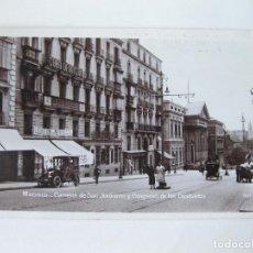 Postales: POSTAL FOTOGRAFICA DE LA CARRERA DE SAN JERONIMO DE MADRID Y CONGRESO DE LOS DIPUTADOS.. Lote 73092515