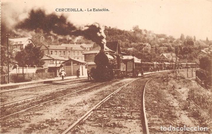 CERCEDILLA (MADRID).- LA ESTACION (Postales - España - Comunidad de Madrid Antigua (hasta 1939))