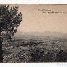 Postales: GUADARRAMA. VISTA PANORÁMICA DESDE EL PINAR.. Lote 74653039