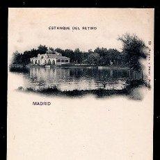 Postales: MADRID.ESTANQUE DEL RETIRO.89 HAUSER Y MENET.SIN CIRCULAR. Lote 75413247