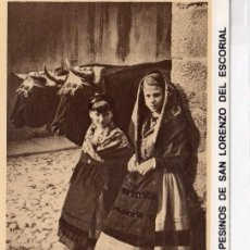 Postales: SAN LORENZO DEL ESCORIAL.- CAMPESINAS DE SAN LORENZO, SIN CIRCULAR.JMOLINA1946. Lote 75610939