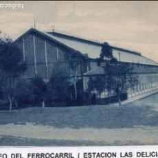 Cartes Postales: MADRID.- ESTACIÓN DE DELICIAS, POSTAL SIN CIRCULAR, DIVIDIDA, FTO, GRAFOS.JMOLINA1946. Lote 76359807