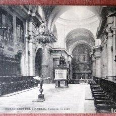 Postales: POSTAL MONASTERIO DEL ESCORIAL - TEMPLO, EL CORO. Lote 77374141