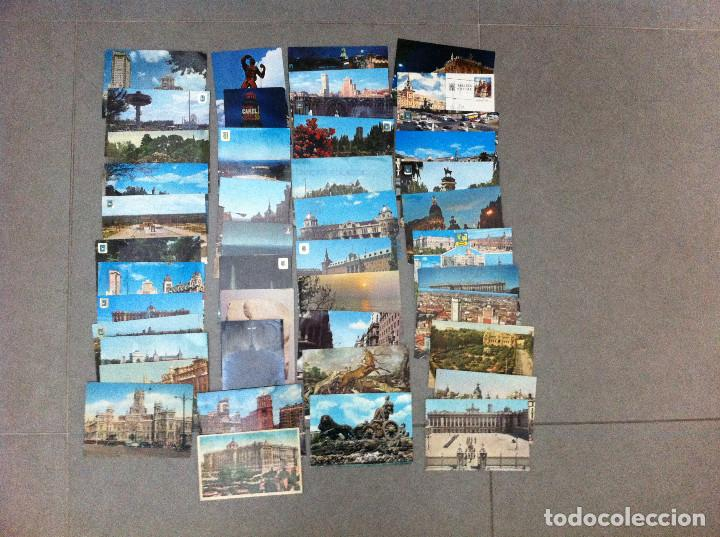 45 POSTALES DE MADRID MUCHAS CIRCULADAS 1961 (Postales - España - Madrid Moderna (desde 1940))