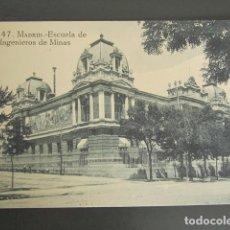 Postales: POSTAL MADRID. ESCUELA DE INGENIEROS DE MINAS. . Lote 79910265