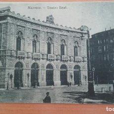 Postales: POST 625 - MADRID - TEATRO REAL - FOTOTIPIA J ROIG VIRADO AL AÑIL SIN CIRCULAR. Lote 80109293