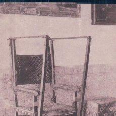 Postales: POSTAL DE MADRID. MONASTERIO DE EL ESCORIAL. SILLA GESTATORIA DE FELIPE II. 36. Lote 81217776