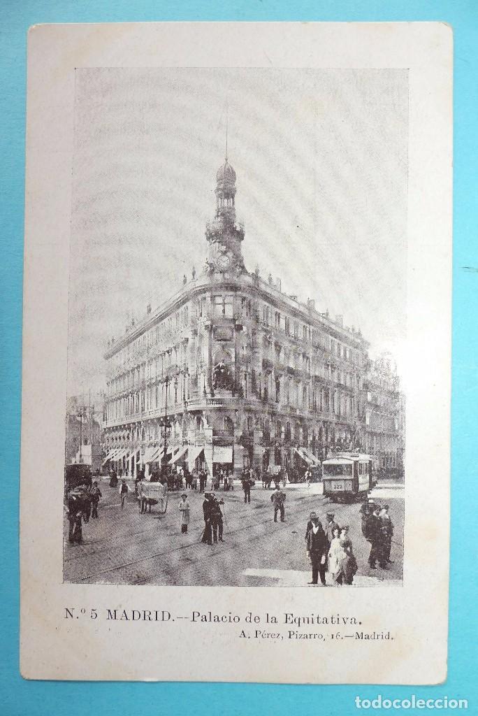 MADRID - POSTAL ANTIGUA - PALACIO DE LA EQUITATIVA - ED. A. PEREZ - SIN CIRCULAR (Postales - España - Comunidad de Madrid Antigua (hasta 1939))
