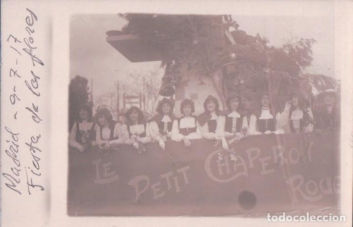 POSTAL FOTOGRAFICA DE MADRID - FIESTA DE LAS FLORES (Postales - España - Comunidad de Madrid Antigua (hasta 1939))