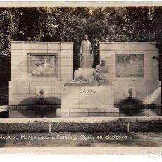 Postales: TARJETA POSTAL ,MADRID,MONUMENTO A RAMON Y CAJAL, SOCIEDAD GENERAL ESPAÑOLA DE LIBRERIA.. Lote 241311555