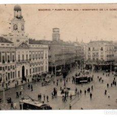 Postales: TARJETA POSTAL ,MADRID,PUERTA DEL SOL,MINISTERIO DE GOBERNACION.. Lote 82261736