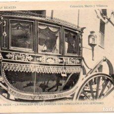 Postales: PS7547 MADRID 'BODA REGIA. LA PRINCESA EN LA CARROZA'. MARÍN Y VILASECA. CIRCULADA. 1906. Lote 82314332