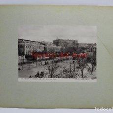 Postales: FOTOGRAFIA DE MADRID, N. 109, LA ESTACION TREN DEL NORTE Y PALACIO REAL, ED. HAUSER Y MENET, 1898, M. Lote 83897096