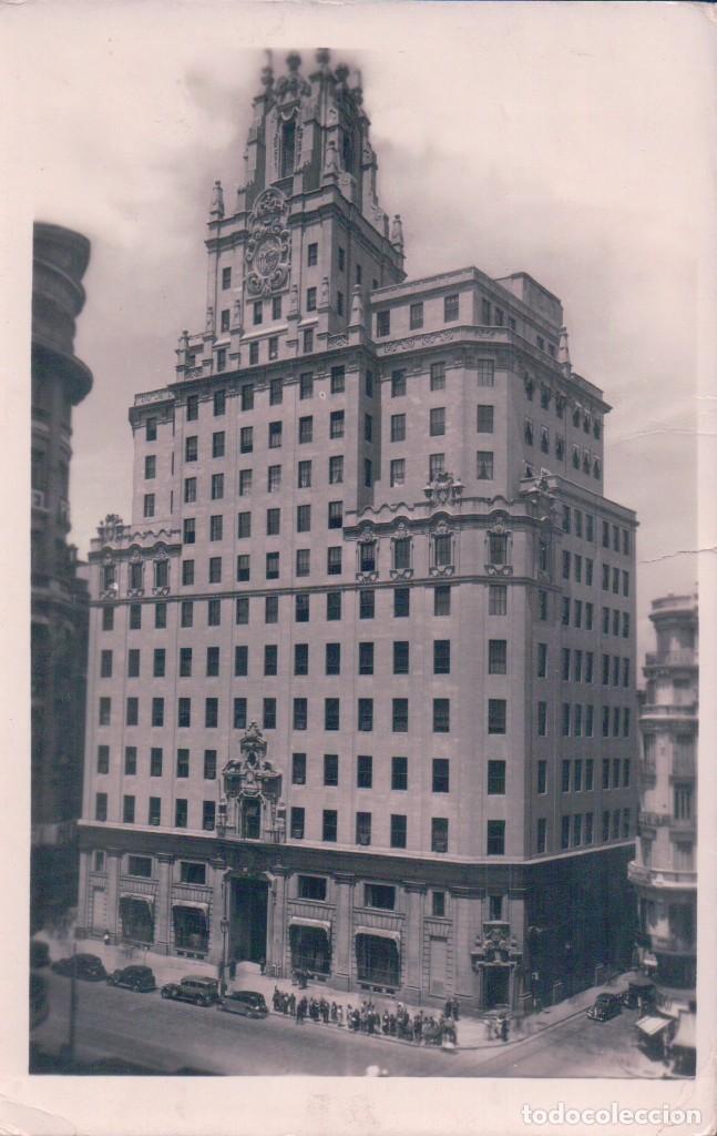 POSTAL MADRID 19 - PALACIO DE LA TELEFONICA - GARRABELLA - CIRCULADA (Postales - España - Comunidad de Madrid Antigua (hasta 1939))