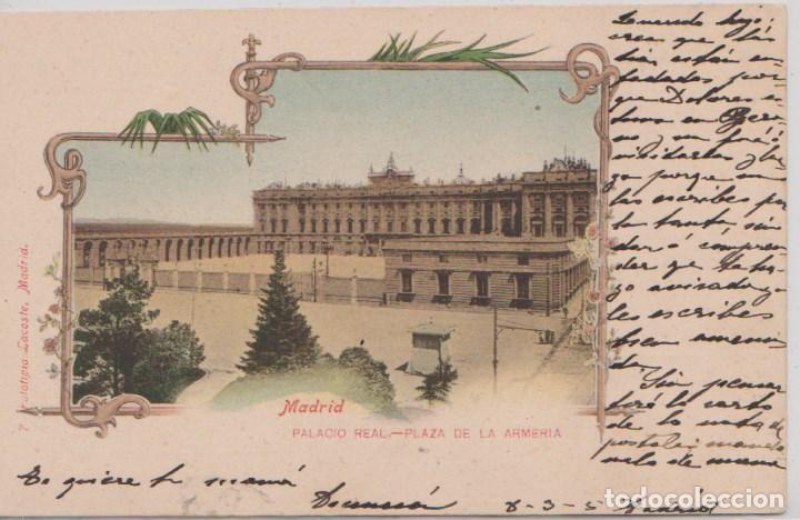 MADRID - PALACIO REAL - PLAZA DE LA ARMERIA (Postales - España - Comunidad de Madrid Antigua (hasta 1939))