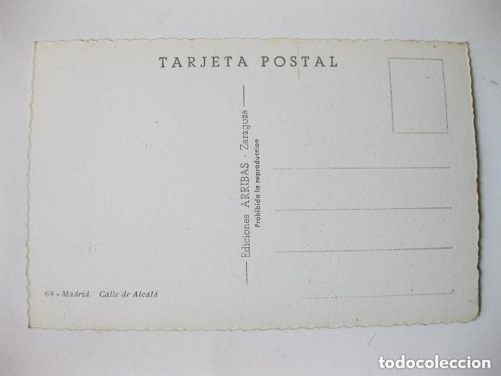 Postales: Tarjeta Postal Fotográfica de Madrid. Calle de Alcalá con trolebuses. Ediciones arribas. Zaragoza. - Foto 2 - 72748266