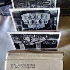 Postales: LIBRO FOTOGRAFICO DEL - REAL MONASTERIO DE SAN LORENZO DEL ESCORIAL - 24 FOTOGRAFIAS DEL AÑO 1956 . Lote 87466612