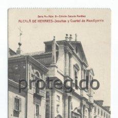 Postales: POSTAL. ALCALÁ DE HENARES. JESUITAS Y CUARTEL DE MENDIGORRIA. EDICIÓN SATURIO RAMÍREZ.. Lote 87629060