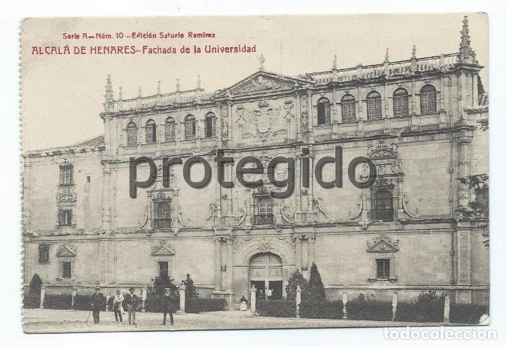 POSTAL. ALCALÁ DE HENARES. FACHADA DE LA UNIVERSIDAD. EDICIÓN SATURIO RAMÍREZ. (Postales - España - Comunidad de Madrid Antigua (hasta 1939))